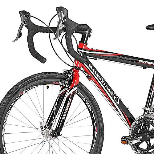 """Giordano Libero 1.6 Road Bicycles, Black/Red, 24""""/41cm/One Size"""