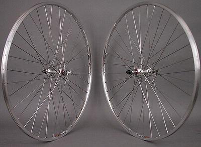 Sun M13 Silver 700c Sealed Bearing Road Bike Wheels 126mm fi