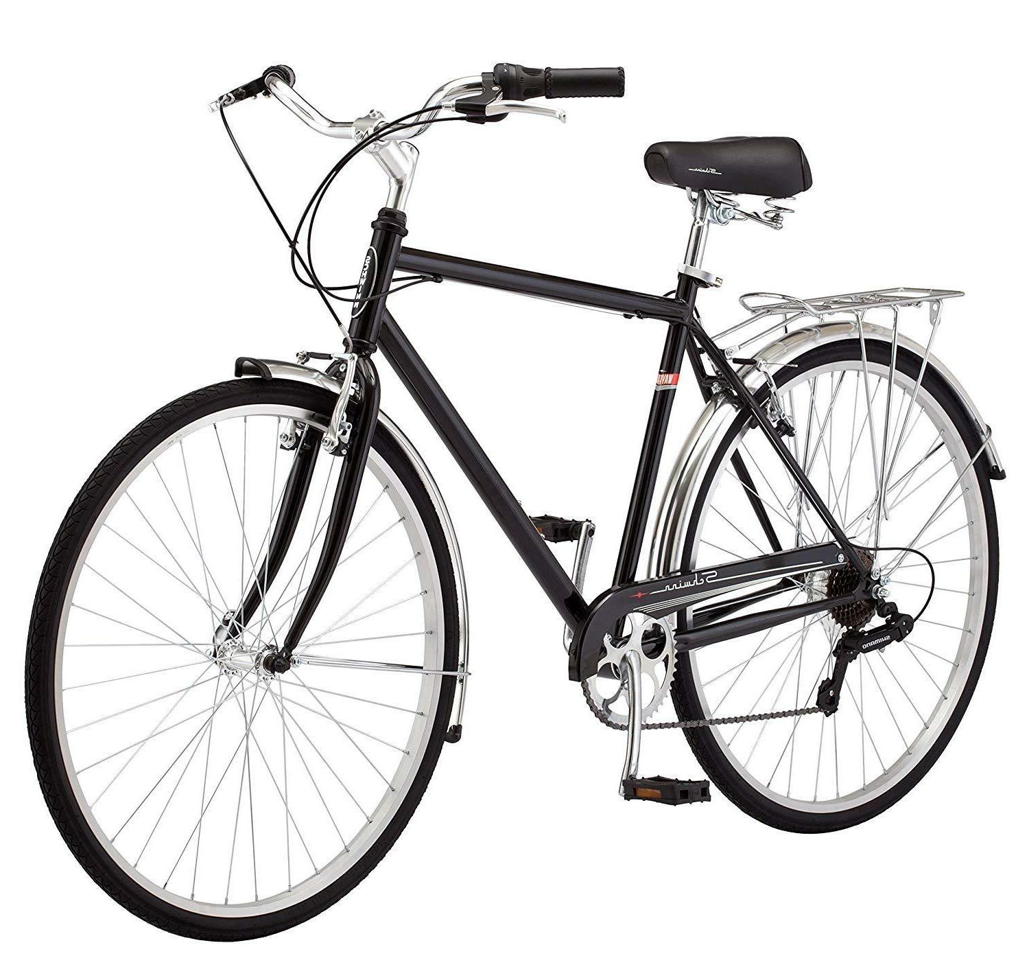 Schwinn Men's Wayfarer Hybrid Bike, Black