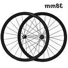 Mix Hubs 38mm Depth Carbon Fiber Wheel 700C Clincher Road Bi