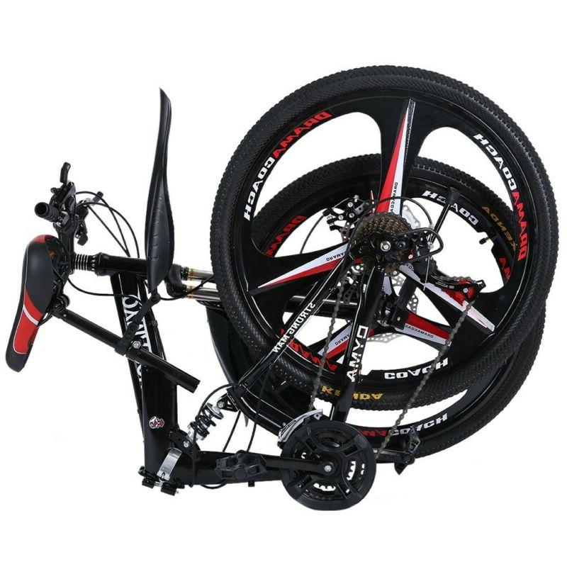 Folding Mountain Bike 27.5 inches wheels full suspension 21
