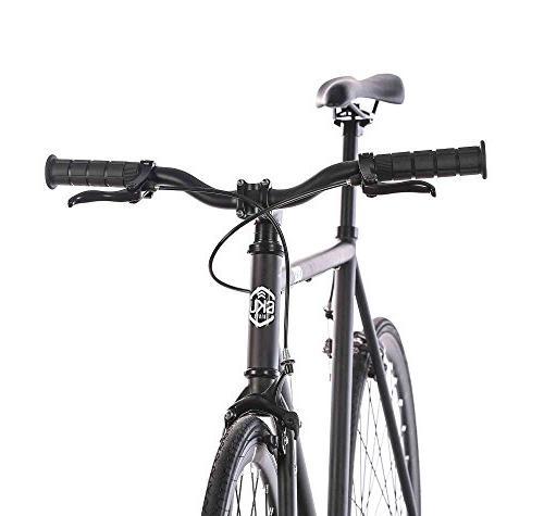 6KU 1 Gear Bicycle, Matte Black/Black, 55cm