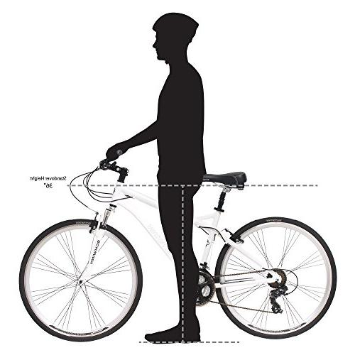 Schwinn Network 700C Bicycle White, 18' size