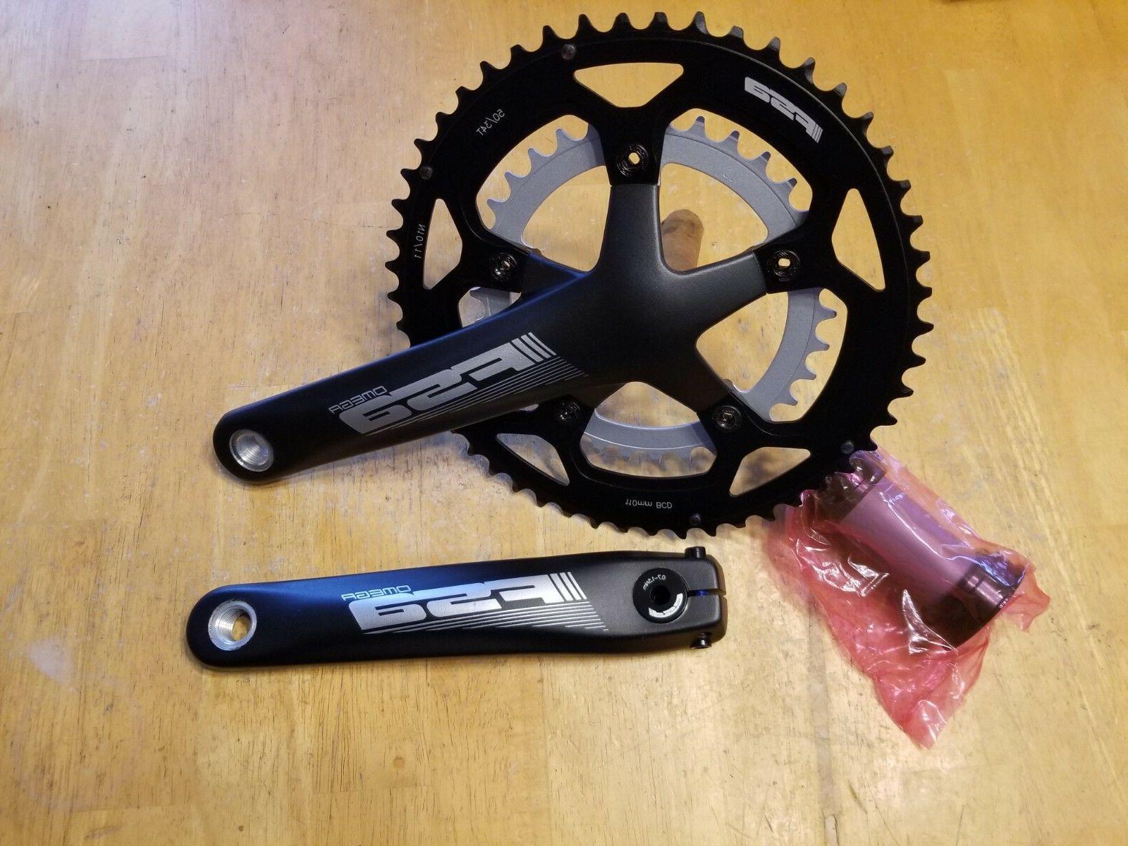 omega road bike crankset 170mm 50 34t