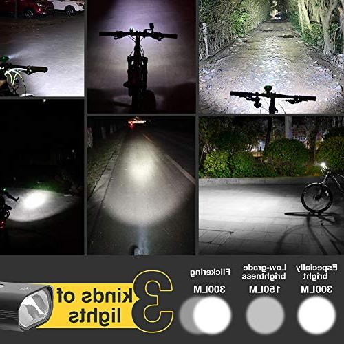 Redcloudx led Light Headlight Light Rechargeable Water Resistant Front Back Rear All MTB, Easy &