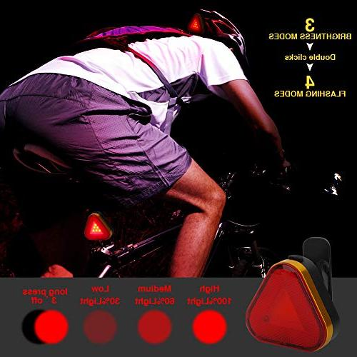 Redcloudx Bike led Light Rechargeable Water Resistant Front Back Rear Lights All MTB, Easy to & Release