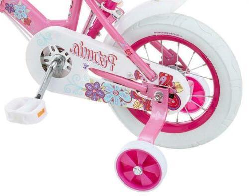 Bike Training 12-Inch Pink/White