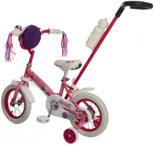 Bike With Training 12-Inch Pink/White