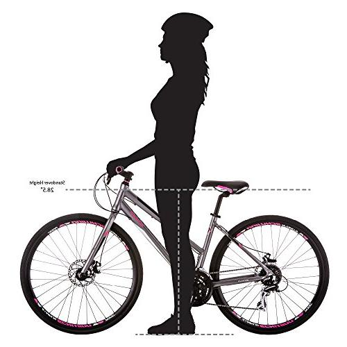 "Schwinn Phocus Bar Road Women's Bike, 17"" Frame Matt Grey"