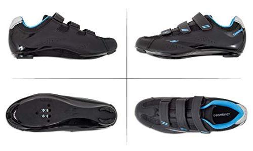Tommaso Pista Bike Cycling Shoe Dual Compatibility- Black/Blue -