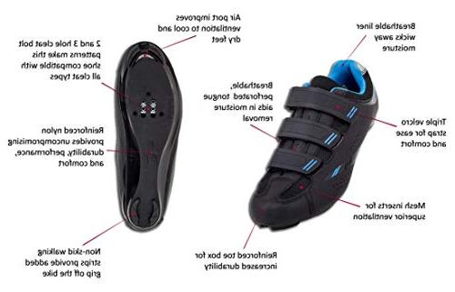 Tommaso Bike Dual Compatibility- Black/Blue - 39