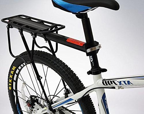 Dirza Rear Bike Rack Bicycle Cargo Rack Quick Release Adjustable Alloy Carrier