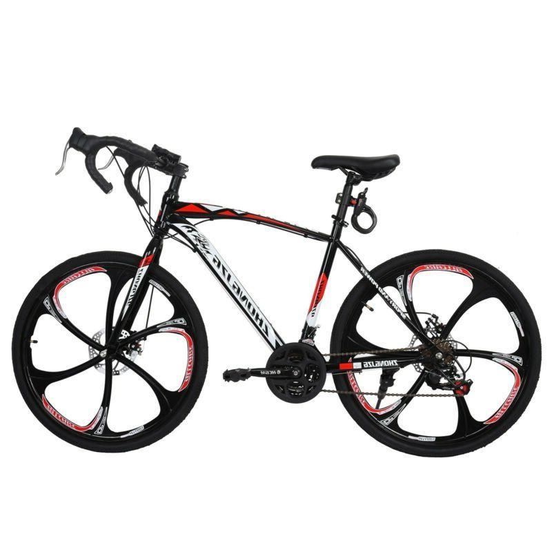 Road Full Speed Bicycle Daul Disc Brakes 700C