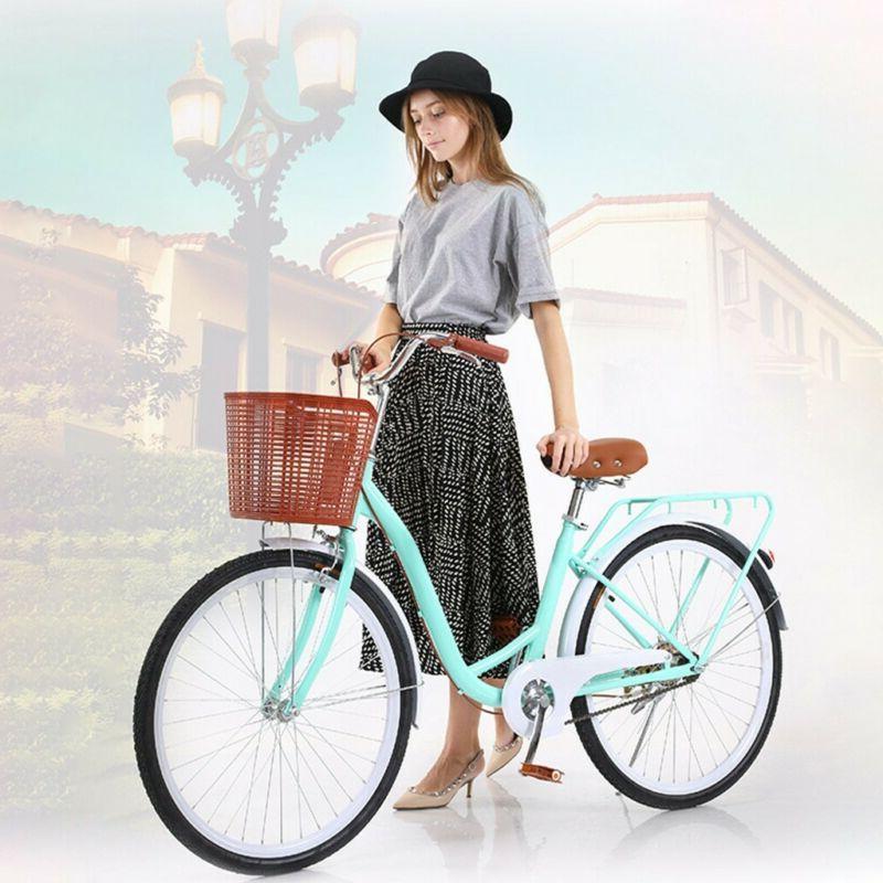 26 inch Women's Comfort Bikes Beach Cruiser Bike Single Spee
