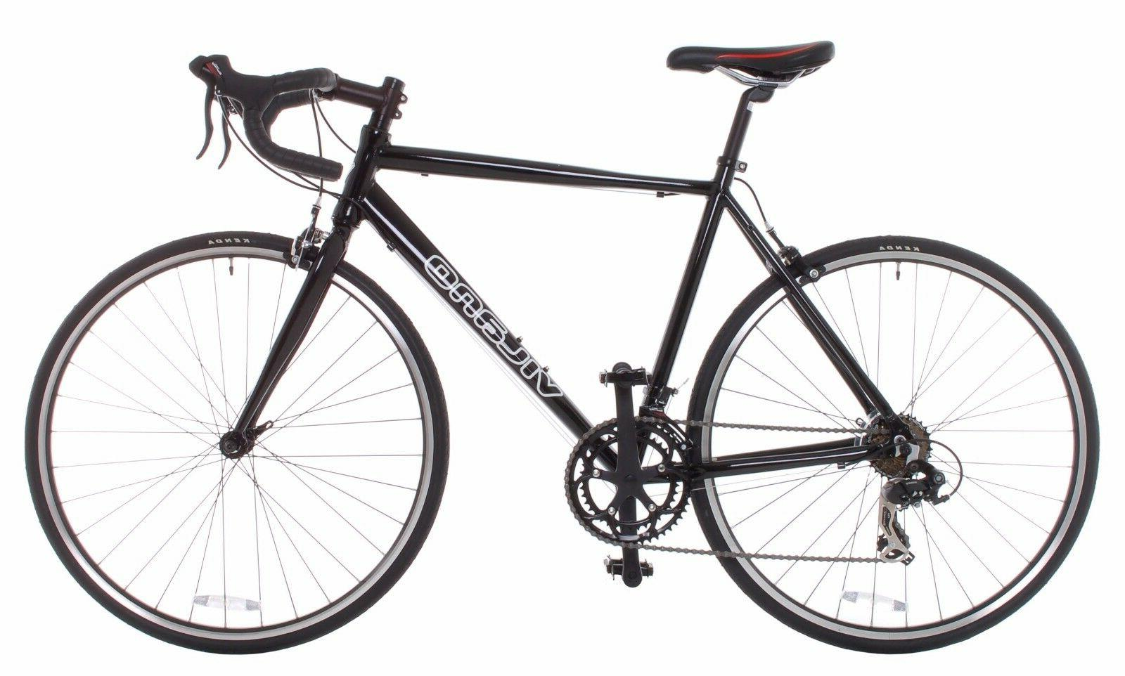 Vilano Road Bike Shimano 21 Speed Double Butted Aluminum Bla