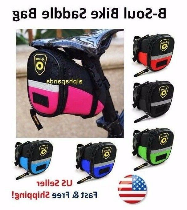 Road MTB Mountain Bike Cycling Saddle Bag Tail Rear Seat Pos