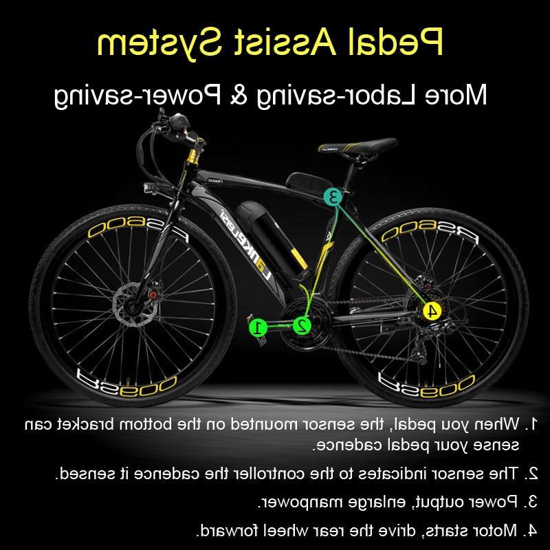 RS600 Electric 36V Battery <font><b>Road</b></font> Bicycle, Both Disc Brake, Mountain