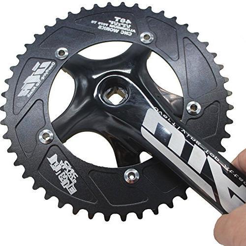 CYSKY Set 48T 170mm Crankarms for Bike, Fixed Gear Bicycle, Track Road Bike