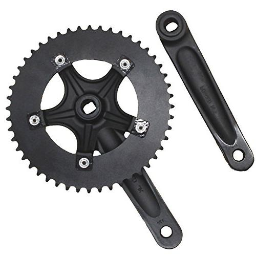 CYSKY Speed Crankset Set 48T 170mm Crankarms 130 BCD Fixie for Speed Fixed Gear Road