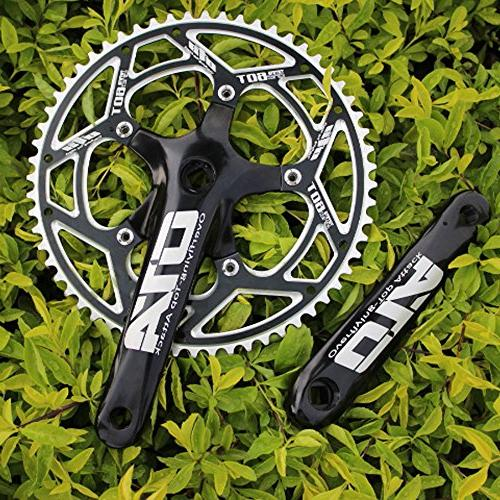 Single 60T Crankarms BCD for Single Speed Bike, Fixed Track Road
