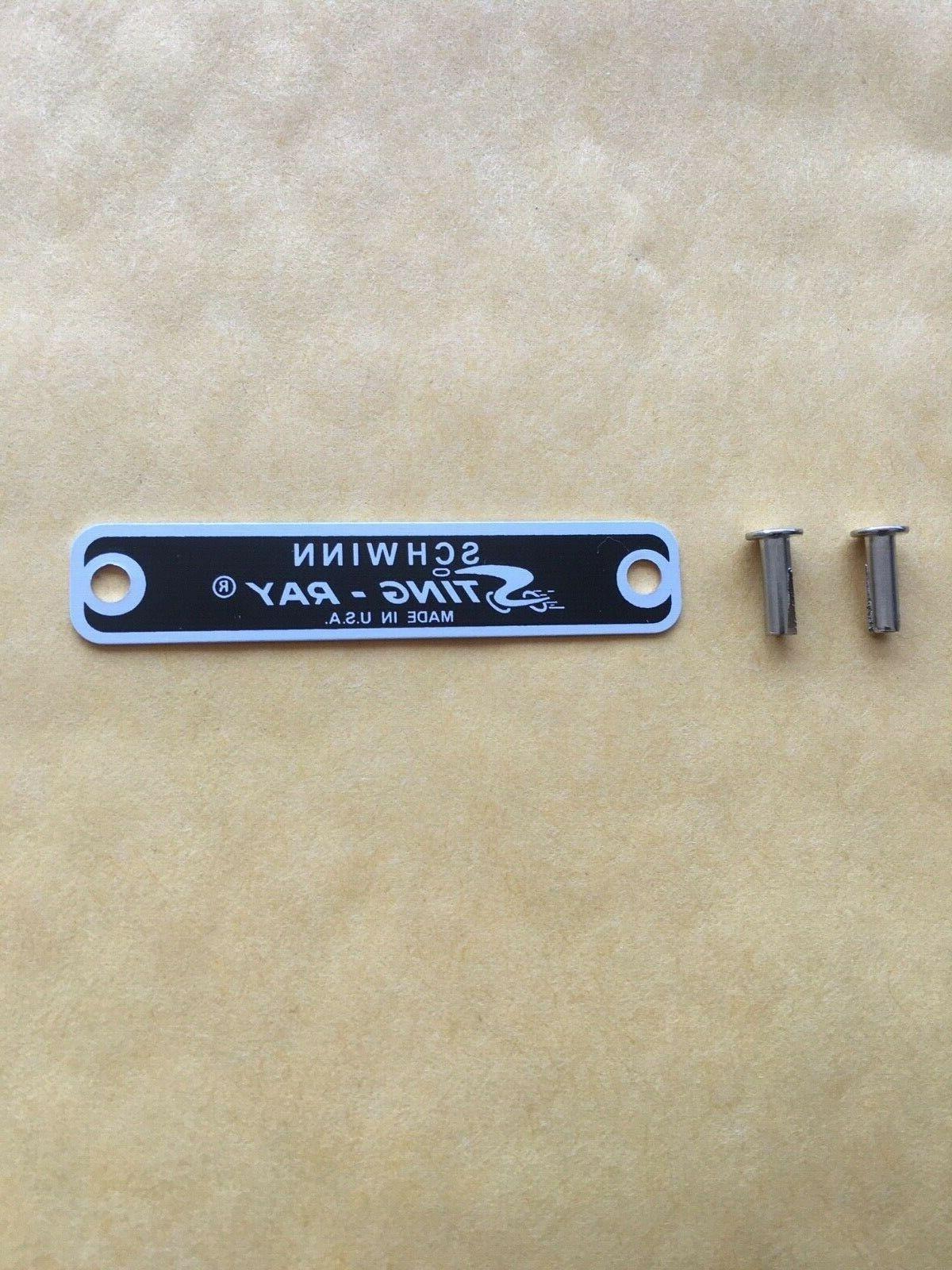 stingray seat tag badge krate metal tag