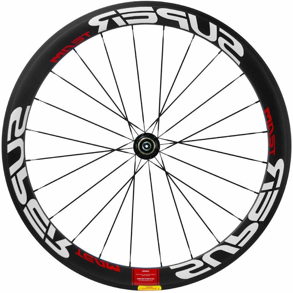 SUPERTEAM Road Bike 50mm Clincher Bicycle Wheelset