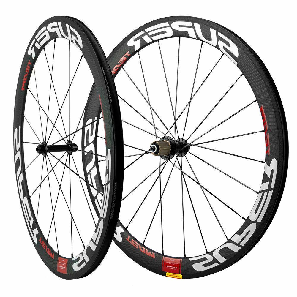 superteam road bike wheels 50mm carbon fiber