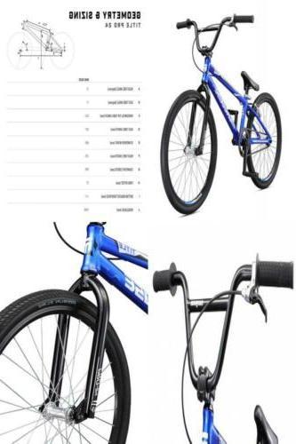 Mongoose Title Pro Boy's Freestyle BMX Bike 24-Inch Wheels B