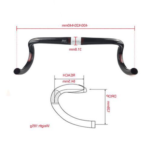 UD Glossy Carbon Drop Bike Ultralight Drop Bar