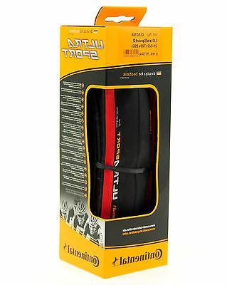 Continental Ultra Sport 2 Road Bike Tire, Red/Black, 700x25,