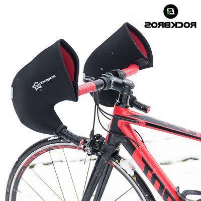 winter gloves cycling handlebar mittens