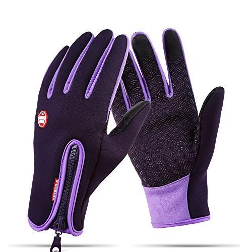 winter gloves touch warm