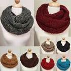 Women's Warm Winter Infinity Circle Cable Knit Cowl Neck Thi
