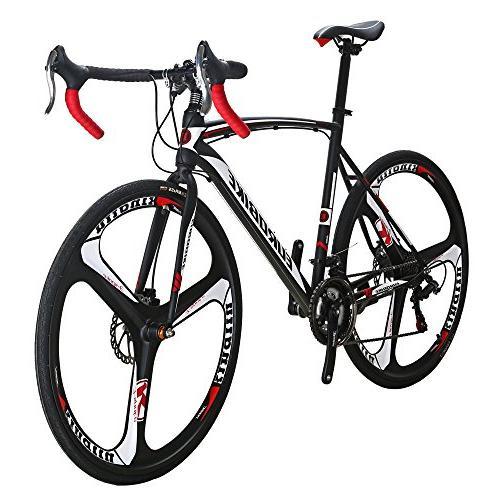 EUROBIKE 54 Cm Road Bike 700C Dual Bicycle Black