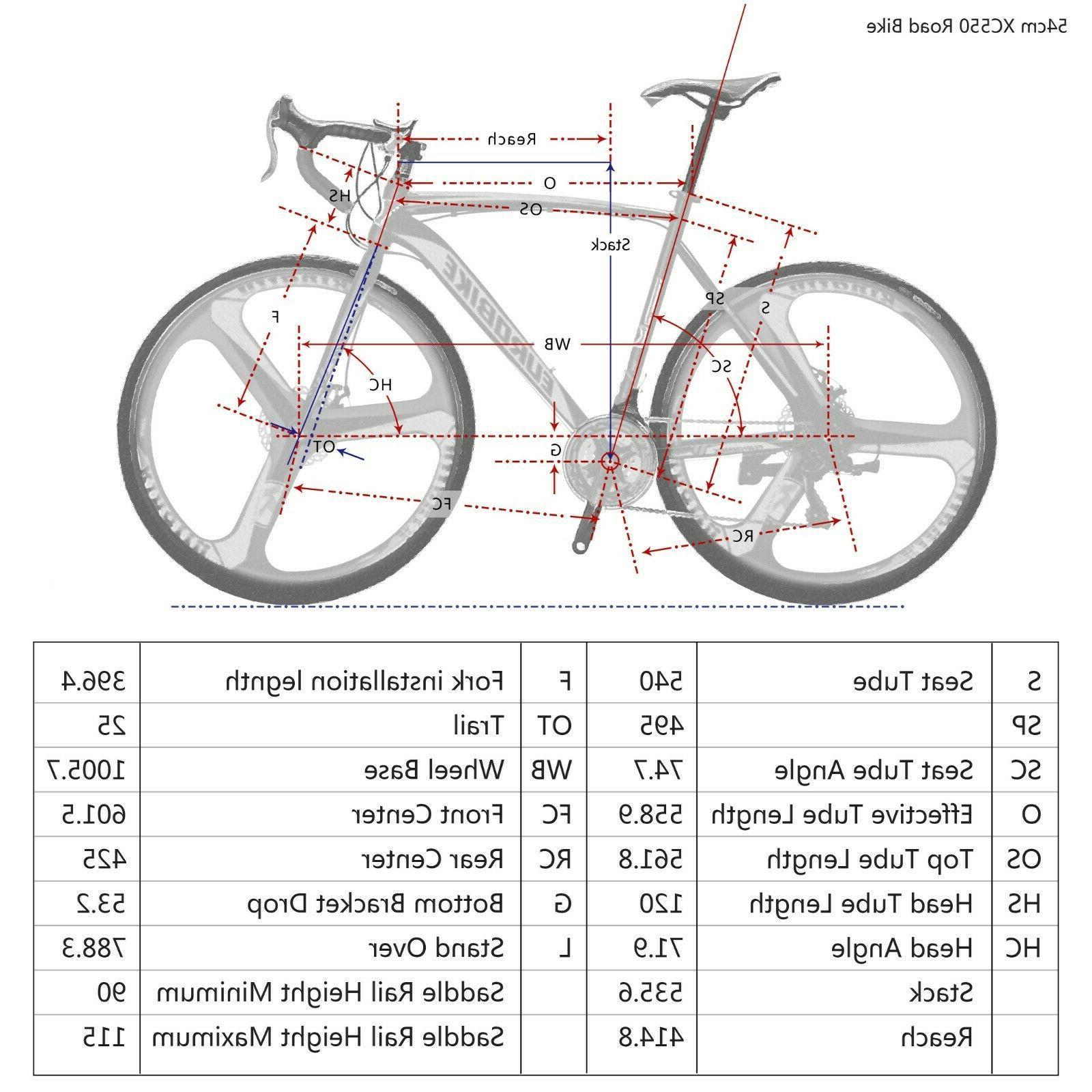 54CM Bike 700C Wheels Mens Speed Brake Bicycle