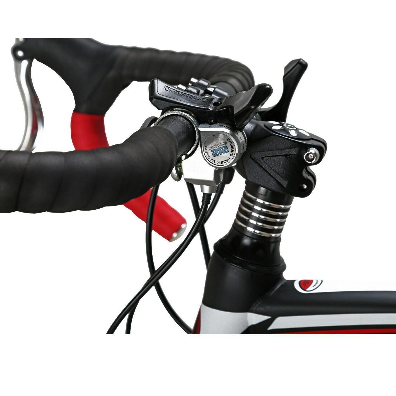54CM Road Wheels Mens 21 Speed Disc Bicycle