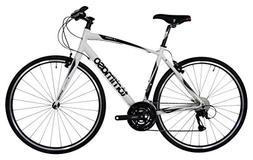 Tommaso La Forma Lightweight Aluminum Hybrid Bike -White/Bla