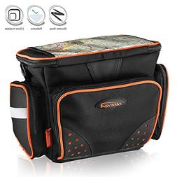 Ibera Bike Handlebar Bag for Camera Equipment, Clip-on Quick