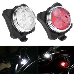 LED Waterproof Bike Bicycle Cycling Front Back Rear Tail Lig
