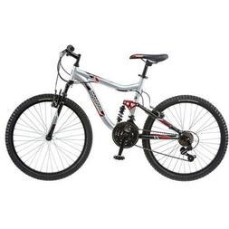 "Mongoose Ledge Bike 24"" Inch for Boys' Mountain Bike Silver,"