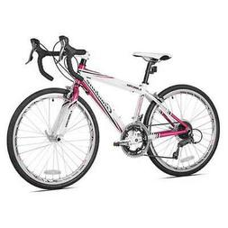 "Giordano Girls Libero 1.6 Road Bicycles, White/Pink, 24""/36."