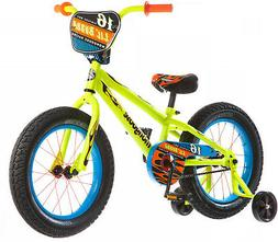 16 Inch Mongoose Lil Bubba Boys Fat Tire Bike Neon Yellow Fa