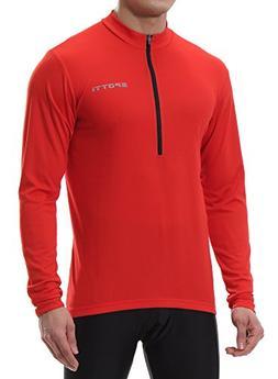 Spotti Men's Long Sleeve Cycling Jersey, Bike Biking Shirt-