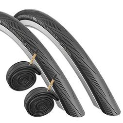 Schwalbe Lugano 700 x 25c Road Bike Tyres with Presta Tubes