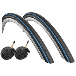 2x Schwalbe Lugano 700c x 25 Road Racing Bike Tires & Presta