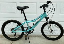 "Diamondback Lustre 20"" Girls' Mountain Bike 6-Speed Light Bl"