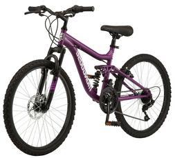 Mongoose Major Mountain Bike, 24-inch wheels, 21 speeds, pur