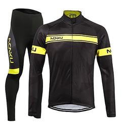 Lixada Men's Cycling Jersey Suit Winter Thermal Fleece Long