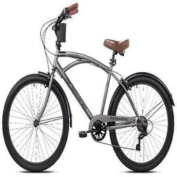 Mens Beach Cruiser Bicycle 26 INCH Steel Frame 7 Speed Trail