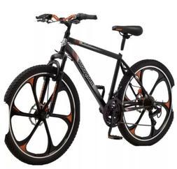 Mens Mongoose Mack 21-Speed Steel Frame Mountain Bike Black/